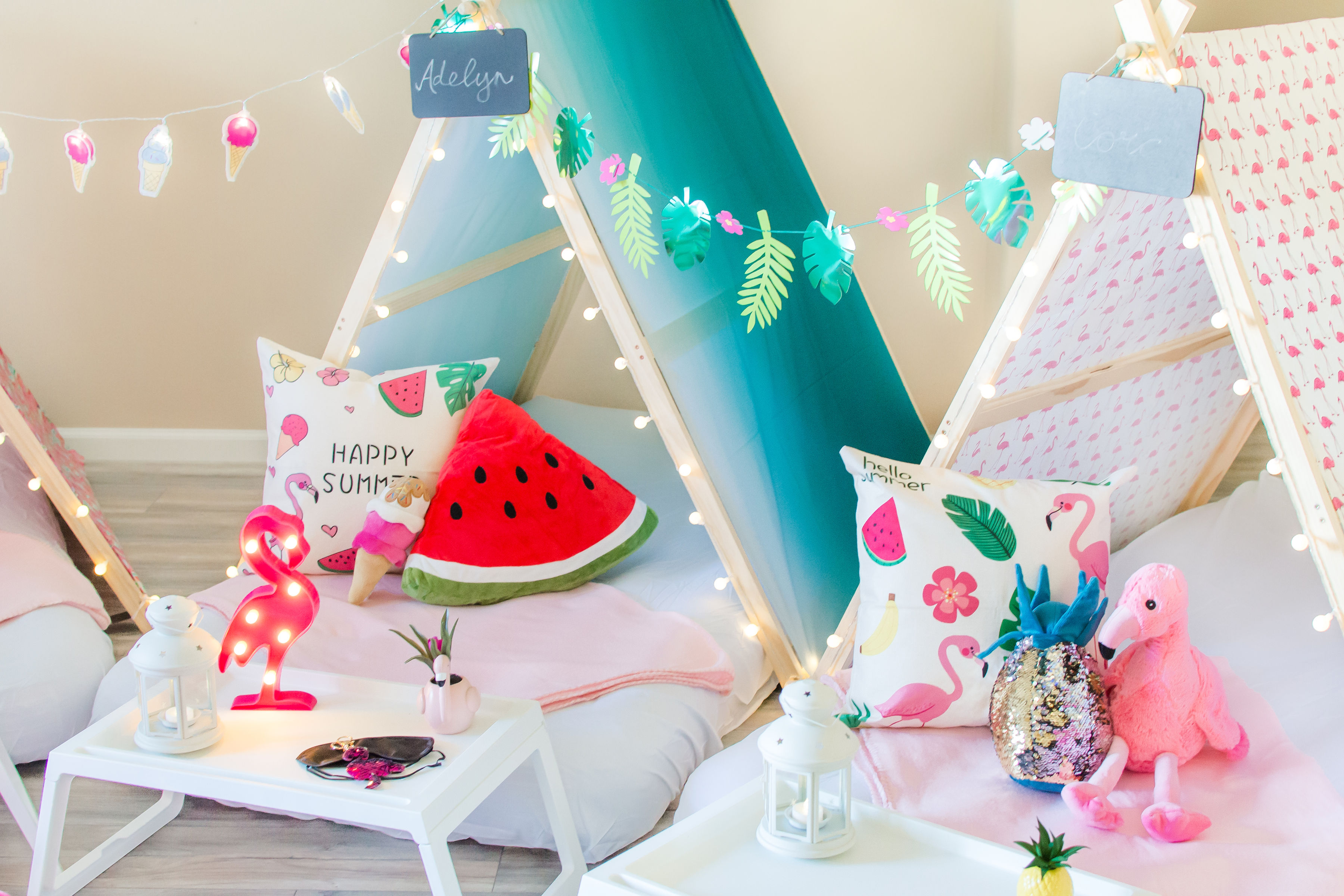 Tiny Teepeezzz Slumber Party Tent Rentals L Themed